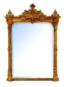 33.5083 American Renaissance Revival Gessoed Gilt Wood Mirror c. 1855