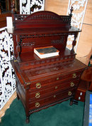08.4599 Aesthetic Movement Mahogany Writing Desk