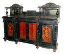 28.5423 Antique Inlaid & Ebonized Victorian Credenza c. 1880