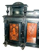 28.5423 Antique Inlaid & Ebonized Victorian Credenza c. 1880