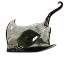 81.4320 Elegant Glass Manta Ray c. 1980