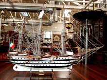83.5512 19th C. Model of an Italian Galleon