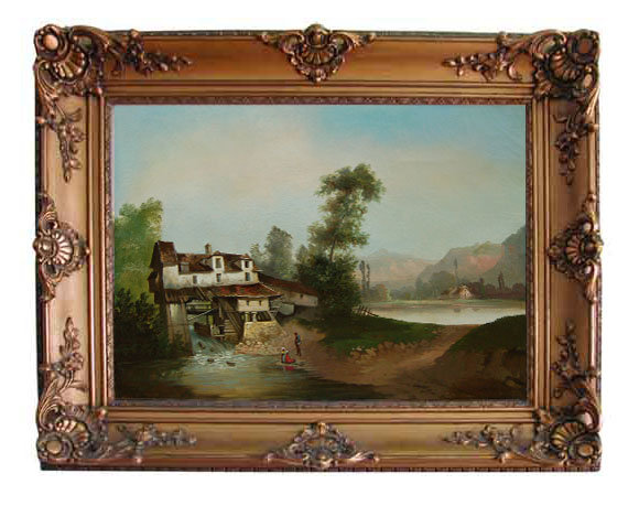 77.5172 19th C. Oil on Canvas painting
