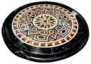3480 48-Inch Diameter Inlaid Italian Marble Specimen Table