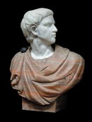 70.4245 Solid marble busts of Julius Caesar.