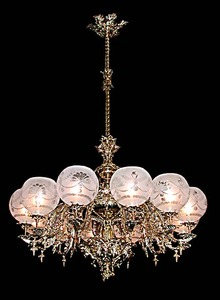 55.5556 Exquiste 12-Light Single Tier Chandelier
