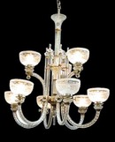 59.2486 English Glass Nine Lite Fixture