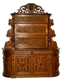 24.5569 Beautiful Rococo Huntboard by Alexander Roux c. 1890