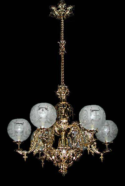 56.5561 Beautiful 6 Light Single Tier Chandelier