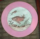 83.5586 Hand Painted 10 Pc. T&V Limoges Fish Plate Set