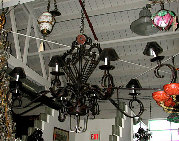 55.5591 Large Cast Iron Chandelier