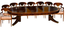43.5780B 9 Piece Empire Dining Set c. 1910