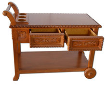 ES008 Kreiss Quality Walnut Serving Cart