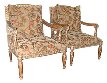 31.5602 Pair of 20th C. Upholstered Armchairs.