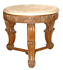 14.5618 20th C. Carved Marble Top Side Table