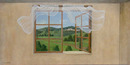 78.5616 Oil on Canvas Window Scene Signed: Gerry High