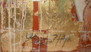 78.5608 Gold Flake Oil on Canvas Painting Signed: Gerry High