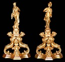 70.5622 Pair of 19th C. Figural Dore Bronze Andirons
