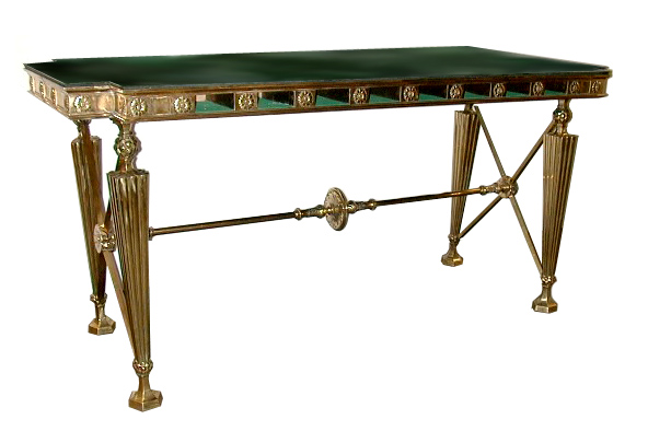 08.5626 Original 19th C. Gorham Bank Table with Marble Top