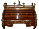 06.5630 French Louis XV Inlaid Cylinder Desk