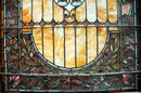 74.5644 American Leaded & Stained Glass Jeweled Landing Window