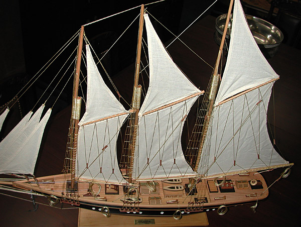 83.3185 Detailed Model of the Historic American Yacht: Atlantic