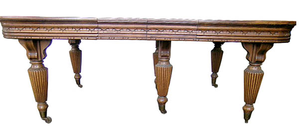 Antiques Art Vintage - Conference table with leaves