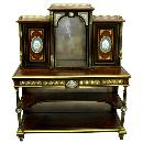 27.7189 Early 19th C. Burled Walnut & Bronze Mounted 2-Pc. Writing Desk