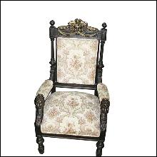 31.7213 19th C. Victorian Swivel Armchair