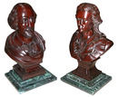 70.5701 Four Figural Walnut American Victorian Carved Busts