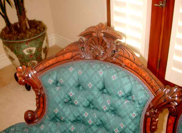 2632 Oversize 5-Pc. Rosewood Parlor Suite by John Jelliff c. 1860