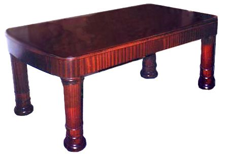 20.4704 ART DECO MOHAGANY TABLE DESK c.1920
