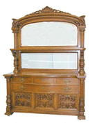 26.5759 19th C. American Quartersawn Oak Sideboard