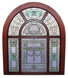74.5751 Stained Glass Landing Window