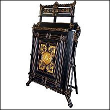 4129 American Renaissance Revival Parcel-Gilt and Ebonized Folio Stand, c 1870 New York.