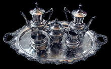 83.5809 Large American Eastlake 6 piece Silver Plate Tea Set .