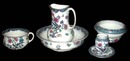 83.5793 American Wash Set with Birds and Floral Patterns.