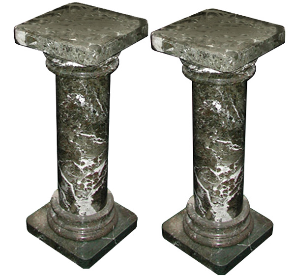 84.0400 Pair of Ionic Green Marble Columns