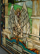 74.5839 Stained Glass Window with Angelic Motif.
