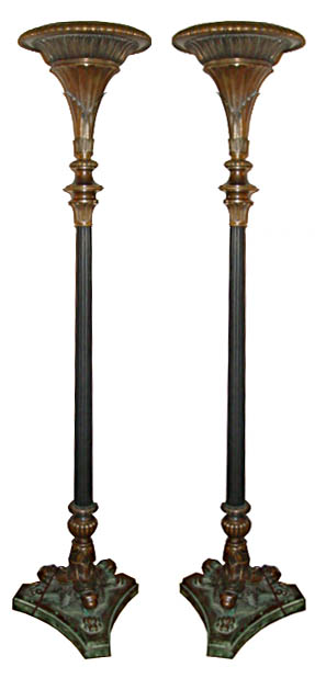 61.5889 Pair of 19th C. Egyptian Revival Torcheres