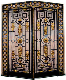 65.5900 Gorgeous Framed Iron Entry Doors c. 1890