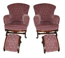 2706 Pair of Antique 19th C. Victorian Platform Rockers