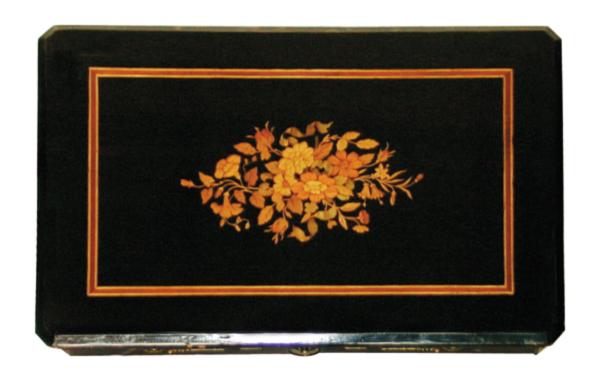 17.9766 Ebonized & Inlaid Table w/Nice Base c. 1870