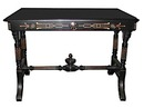 17.9766 Ebonized & Inlaid Table w/Nice Base c. 1870