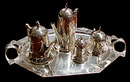 83.6048 5 Piece WMF Silver Plate Art Deco Tea Set
