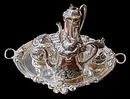 83.6049 Silver Plate Art Nouveau Tea Set by WMF