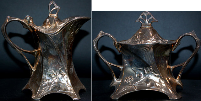 83.5981 WMF Silver Plate Art Nouveau Tea Set
