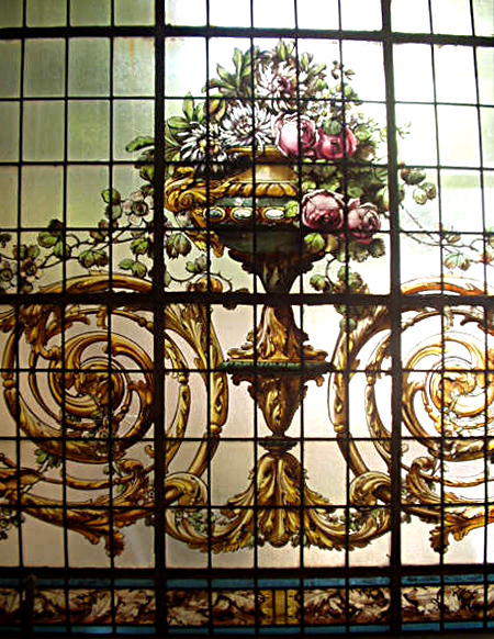 74.6037 19th C. Stained Glass Window Signed M. Casanova