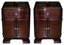 53.6112 Pair of Rosewood Art Deco Nightstands