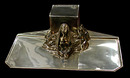 70.2843 Silver Plate Egyptian Revival Sphinx Inkwell